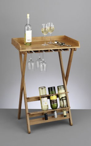 wein serviertisch klapptisch ganz aus bambus holz edel ebay. Black Bedroom Furniture Sets. Home Design Ideas