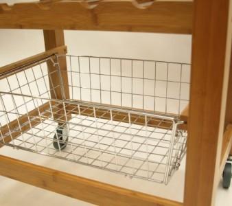 luxus kuechen rollwagen aus bambus und granit wohn accessoires haushalt einrichten deko. Black Bedroom Furniture Sets. Home Design Ideas