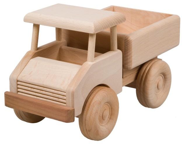 kleiner lastwagen aus holz holz spielzeug baus tze. Black Bedroom Furniture Sets. Home Design Ideas