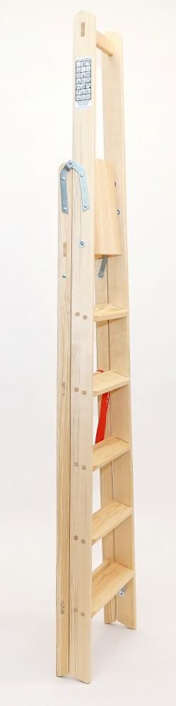sicherheitsleiter bibliotheksleiter 6 stufen doppelleitern stehleitern aus holz. Black Bedroom Furniture Sets. Home Design Ideas