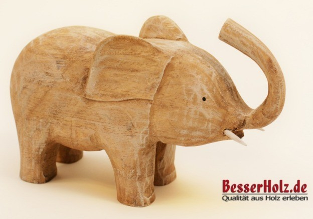 holz elefant 18 cm hoch wohn accessoires bilder dekoration. Black Bedroom Furniture Sets. Home Design Ideas