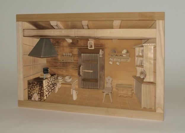 wandbild k che in 3 d optik ganz klasse handarbeit wohn accessoires bilder dekoration. Black Bedroom Furniture Sets. Home Design Ideas