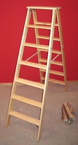 doppelleiter stil 7 stufen doppelleitern stehleitern aus holz treppenleiter doppelleiter stil. Black Bedroom Furniture Sets. Home Design Ideas