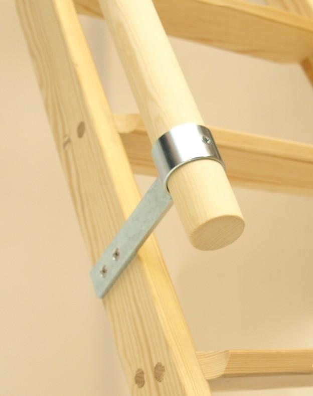 handlauf f r parallelanlegeleiter hochbettleiter stufenleiter 0 80 m 1 20m holz leitern zubeh r. Black Bedroom Furniture Sets. Home Design Ideas