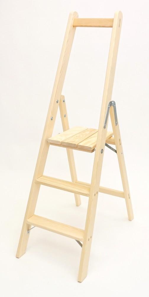 sicherheitsleiter bibliotheksleiter 3 stufen doppelleitern stehleitern aus holz. Black Bedroom Furniture Sets. Home Design Ideas