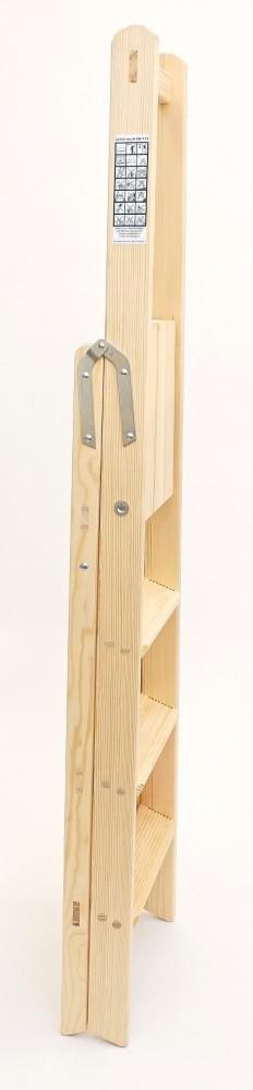 holzleiter bibliotheksleiter 4 stufen doppelleitern stehleitern aus holz bibliotheksleiter. Black Bedroom Furniture Sets. Home Design Ideas